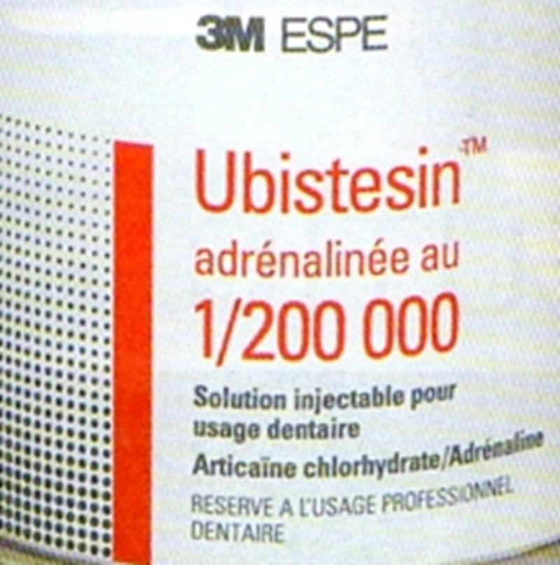 Le lien entre l'Adrénaline et la Lidocaïne