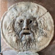 Bocca della verità à l'église Santa Maria in Cosmedin (Rome)