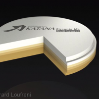 Usinage de ce bridge par Labocast dans un disque de zircone polychrome Katana® (Kuraray)