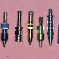 Fig. 2a : Transferts pick-up pour les marques (de gauche à droite) : Biomet 3i, AlphaBio, Nobel Biocare, Zimmer, AstraTech et Zimmer.