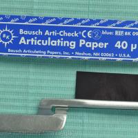 Fig. 2a : Papier encré de 40 microns d'épaisseur.