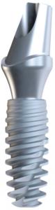 Fig. 3 : Implant cylindro- conique autotaraudant avec un col à conicité inversée.