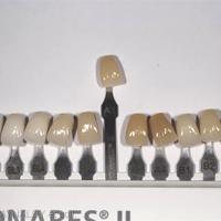 8. Choix de la couleur et de la forme des dents. a. Teintier Phonares II Ivoclar Vivadent®.