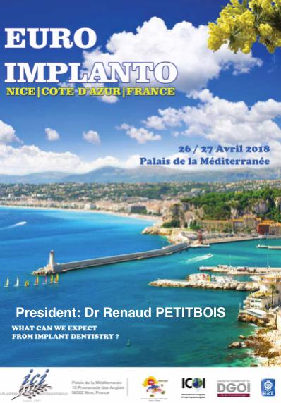 Euro Implanto 2018 - 26 et 27 avril à Nice